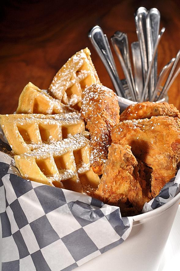 PBR Fried Chicken and Waffles