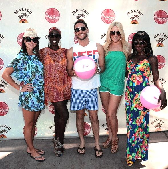 PEEPSHOW Cast Hosts Party at Flamingo GO Pool in Las Vegas