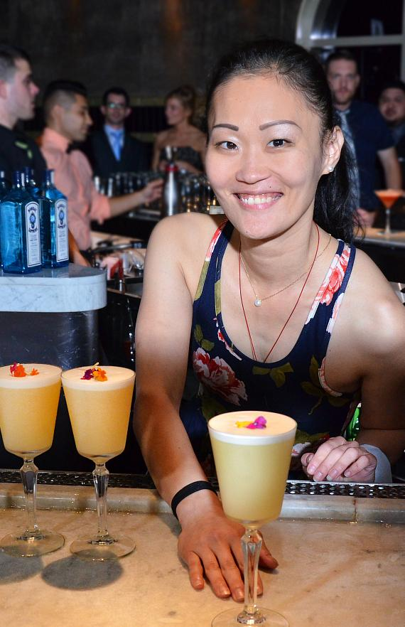 """Juyoung Kang serves """"The Lacy Fizz"""""""