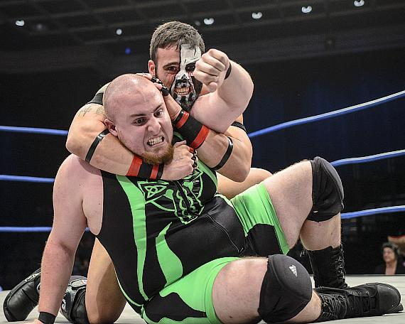 Mikey O'Shea and Graves at Paragon Pro Wrestling's event at Sam's Town Live on May 5, 2015