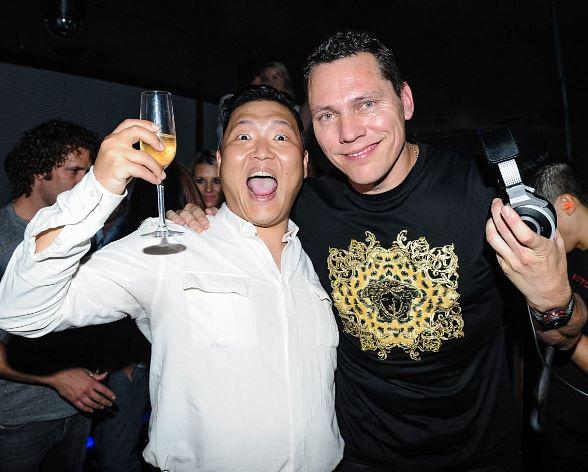 Korean Pop Sensation PSY Spotted at Hakkasan Nightclub