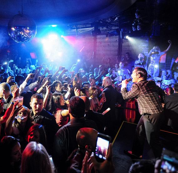 PSY performs at LAVO Nightclub