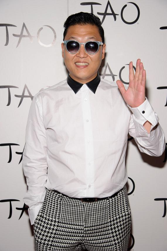 PSY on red carpet at TAO