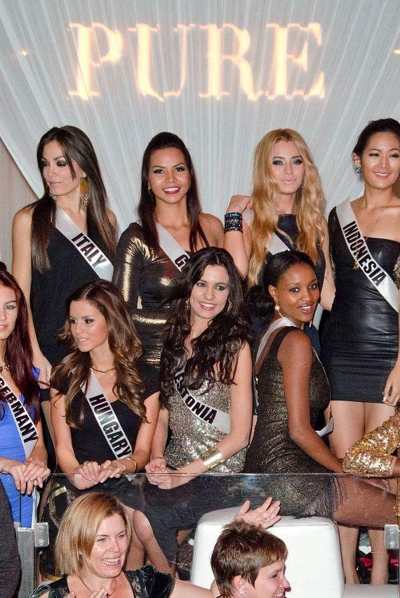 Miss Universe contestants at PURE Nightclub