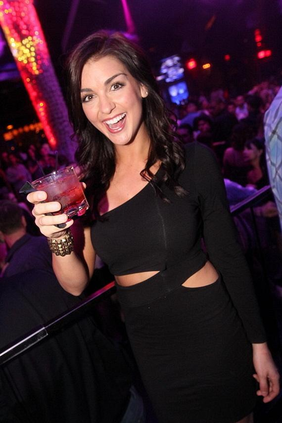 Paige Duke hosts at Vanity Nightclub at Hard Rock Hotel & Casino