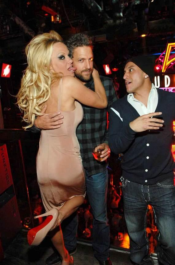 Pamela Anderson and Jon Rose at Studio 54 for NYE