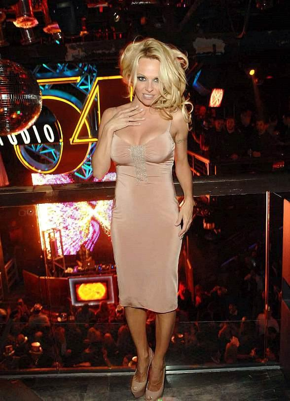 Pamela Anderson inside Studio 54 for NYE