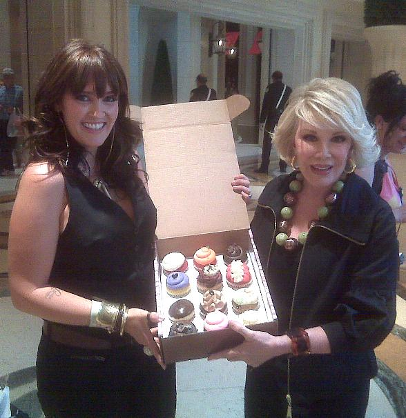 Joan Rivers with The Cupcakery Cupcakes