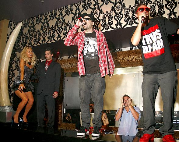 Paris Hilton, Andre Legacy and Dirt Nasty