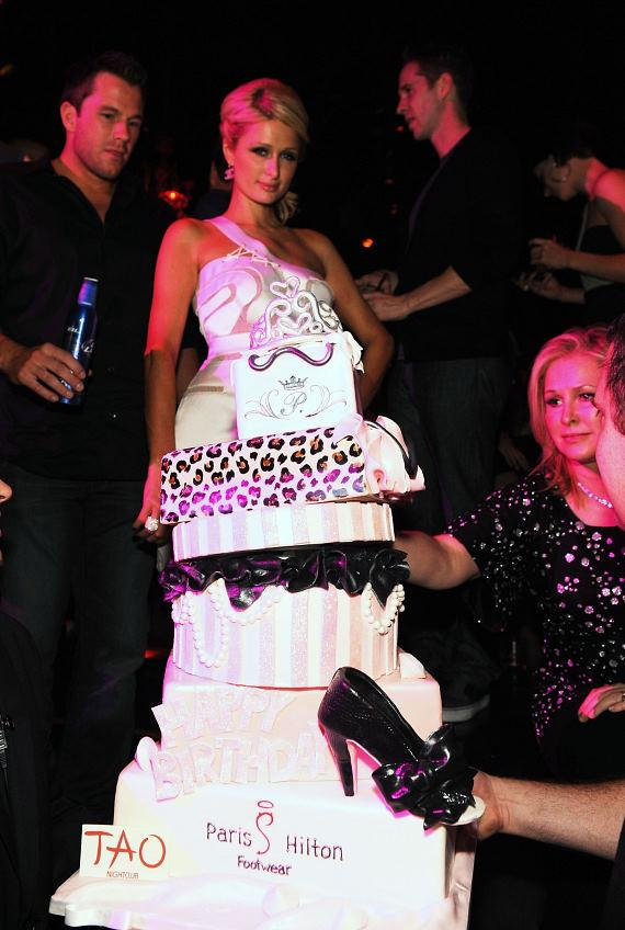 Paris Hilton birthday cake at TAO