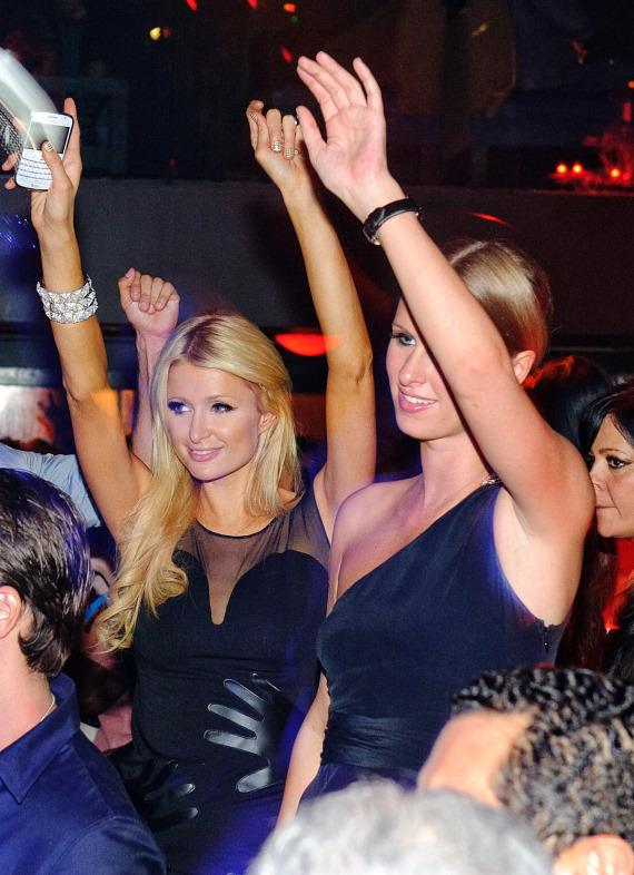 Paris and Nicky Hilton at TAO