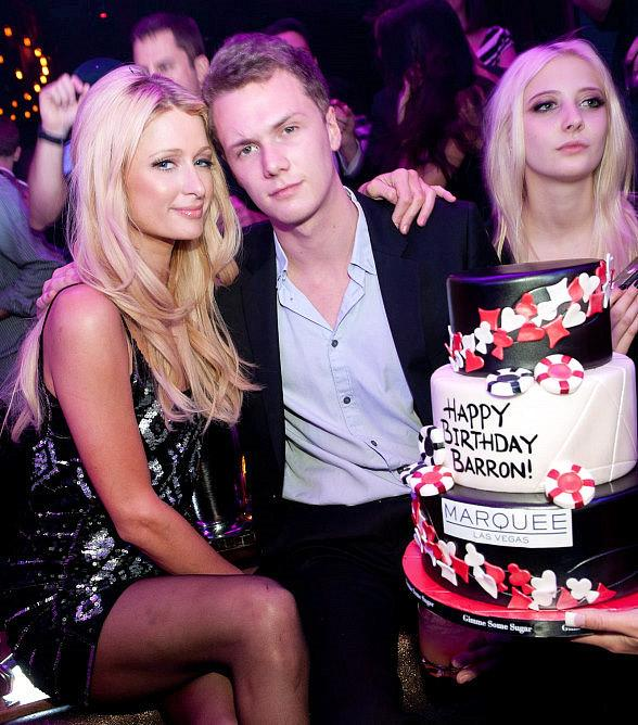 Paris and Barron Hilton at Marquee