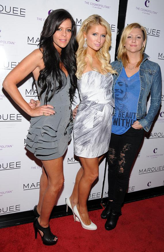 Allison Melnick, Paris Hilton and Jennifer Rovero