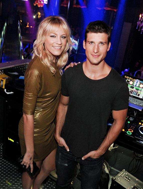 Parker Young and Brit Morgan Pose Inside Chateau Nightclub & Gardens