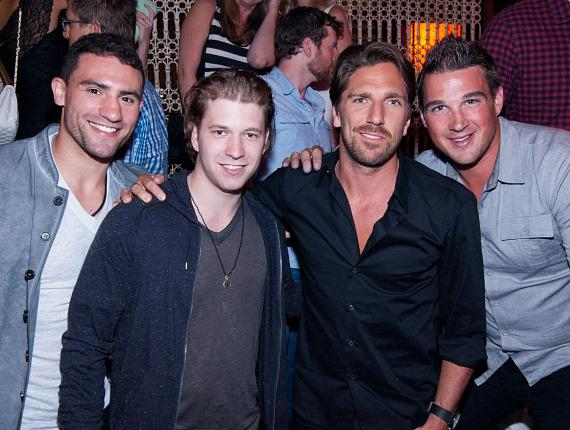 Paul Bissonnette, Claude Giroux, Henrik Lundqvist and Shane O'Brien at LAVO
