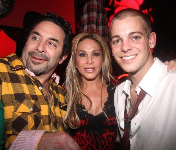 Paul Nassif, Adrienne Maloof and Ryan Sheckler at Moon Nightclub