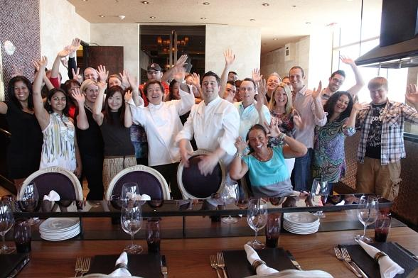 Paul Oakenfold, Geno Bernardo and cooking class guests