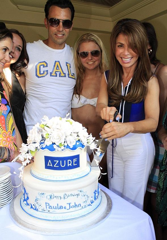Paula Abdul celebrates her 50th birthday at Azure