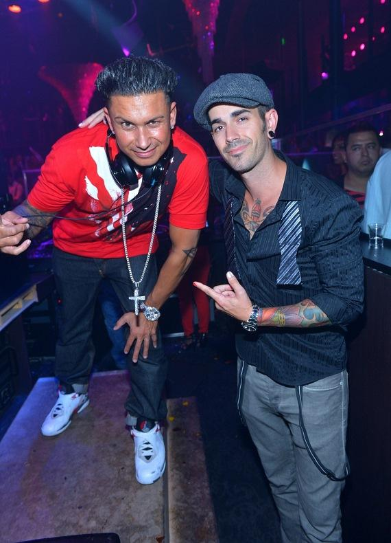 Pauly D and DJ Shift at Haze Nightclub