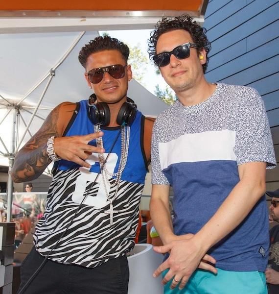 DJ Pauly D and DJ Spider at LIQUID Pool Lounge at ARIA on Saturday, May 31