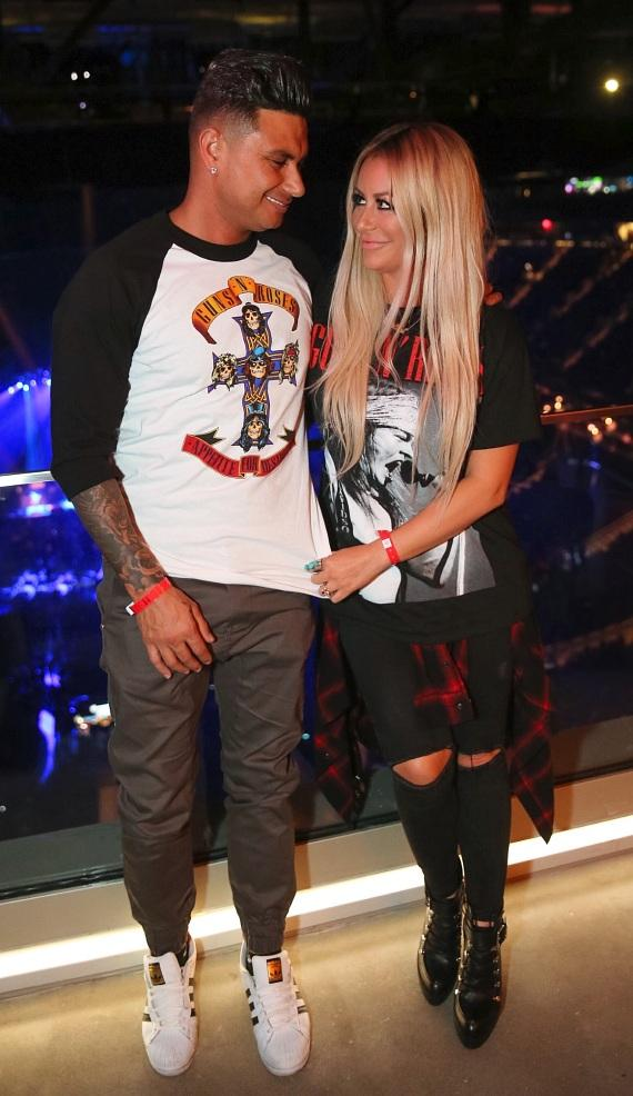 Pauly D and Aubrey O'Day at Hyde Lounge