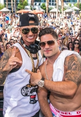 """Pawn Stars"" Chumlee and ""Jersey Shore"" stars Pauly D and Ronnie Magro party at Rehab at Hard Rock Hotel & Casino Las Vegas"