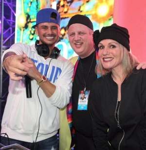 "DJ Pauly D spins at ""Winter Wonderland EDM Pop Up Series"" at DLVEC with Horny Mike, Derek Stevens and Nicole Parthum"