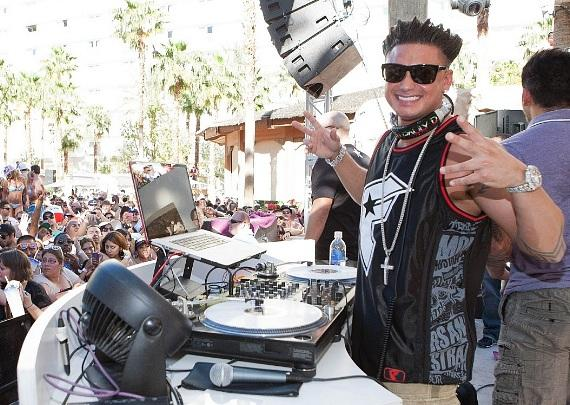 DJ Pauly D performs at Rehab at Hard Rock Hotel & Casino