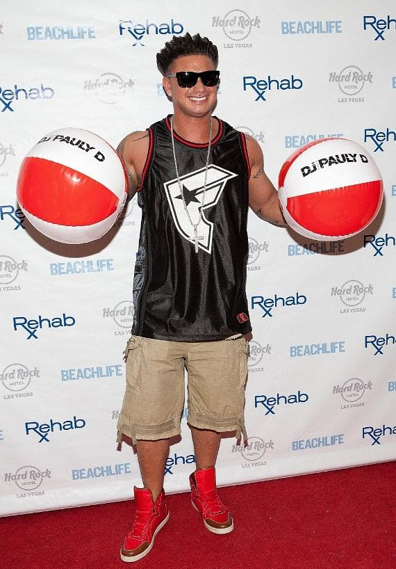 DJ Pauly D on the red carpet at Rehab at Hard Rock Hotel & Casino