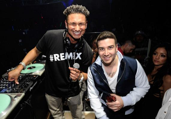 DJ Pauly D with Vinny Guadagnino at Haze Nightclub