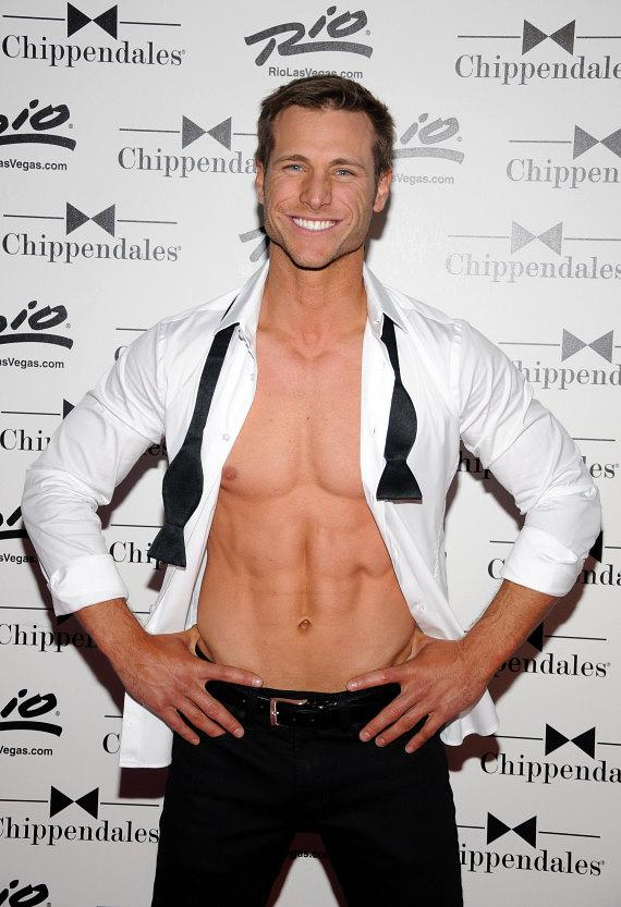 Jake Pavelka on Chippendales red carpet at The Rio