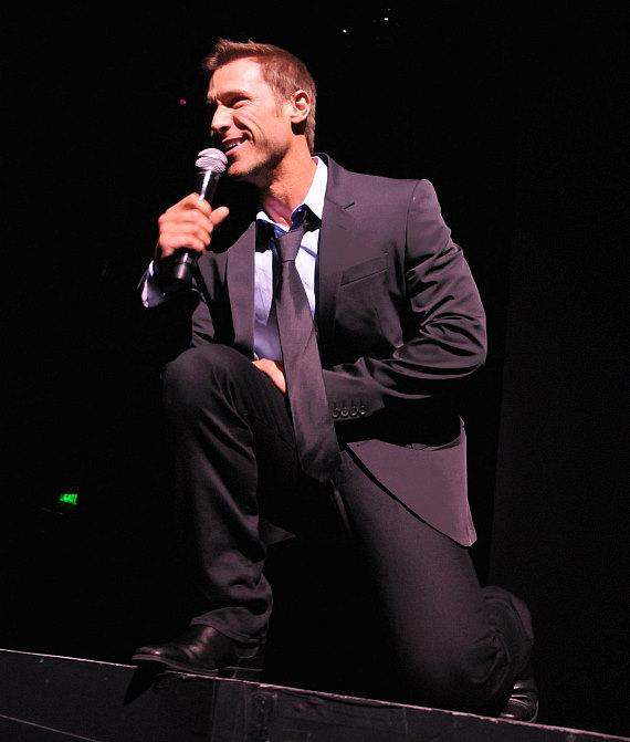 Jake Pavelka on stage at Chippendales