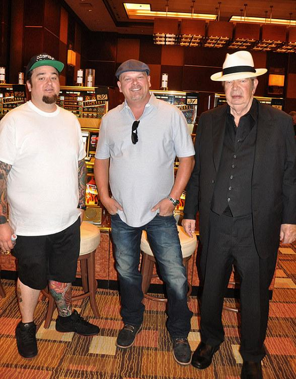 Pawn Stars Austin 'Chumlee' Russell, Rick Harrison and The Old Man (Richard Harrison) at Golden Nugget Las Vegas