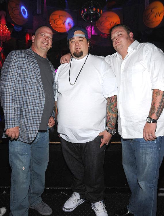 Rick Harrison, Chumlee and Corey Harrison of Pawn Stars