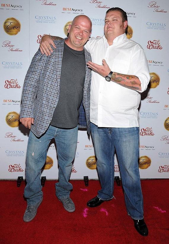 "Pawn Stars Rick Harrison, Corey ""Big Hoss"" Harrison and Chumlee at"