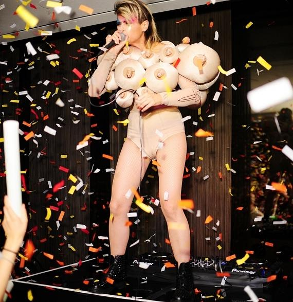 Peaches performs at ghostbar's Snitch in Las Vegas