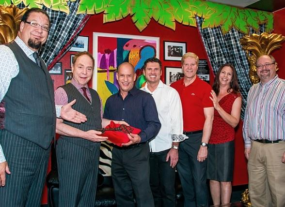 Golden Rainbow's Executive Director Gary Costa, Acting President Greg Nielson, Treasurer Drew Zidzik, Vice President Pietra Sardelli and Vice President Scott Emerson were welcomed by Penn & Teller