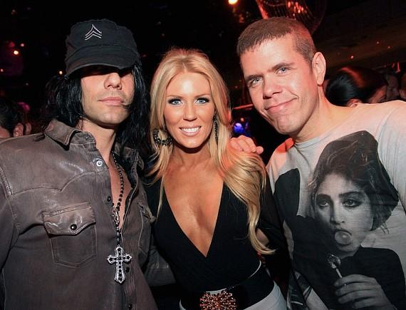 Criss Angel, Gretchen Rossi and Perez Hilton at The Bank
