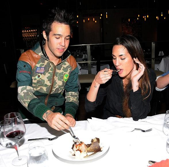 Pete Wentz &amp; Meagan Camper at Hard Rock Hotel Las Vegas