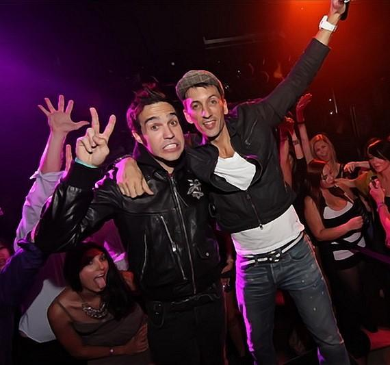 Pete Wentz and Clinton Sparks at Moon Nightclub