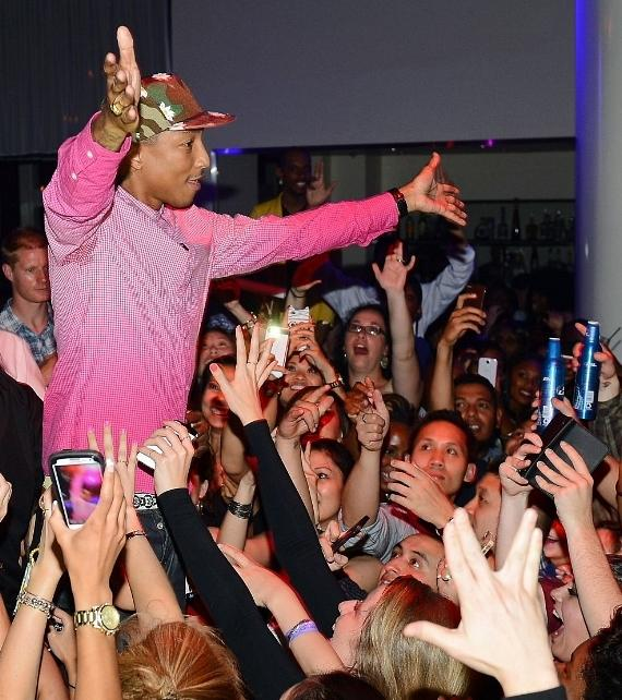 Pharrell Williams performs at PURE Nightclub in Las Vegas