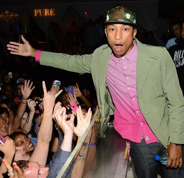 Pharrell Williams Performs Live at PURE Nightclub in Las Vegas