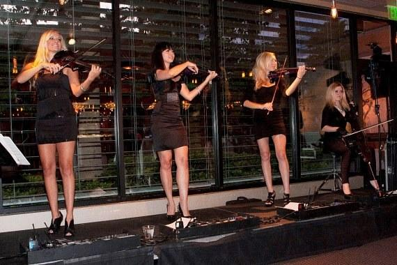 Phat Strand performing at grand opening party for 35 Steaks + Martinis