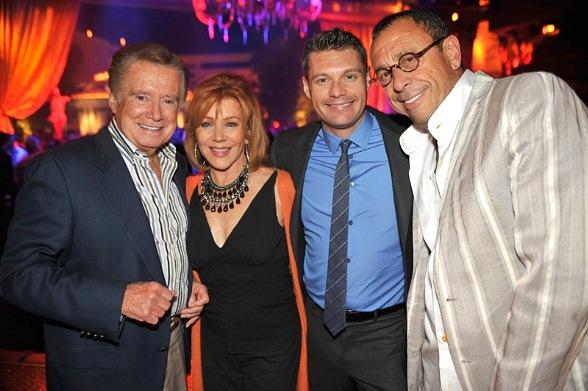 Regis Philbin, Joy Philbin, Ryan Seacrest and Victor Drai