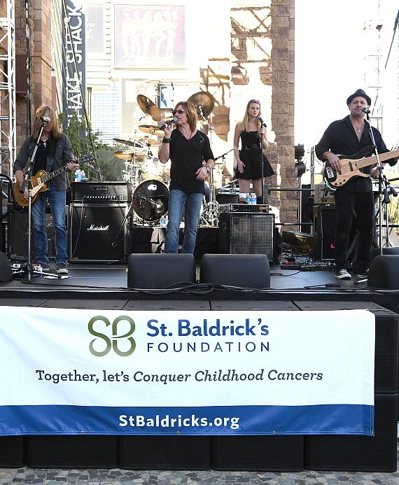 Phoenix performs at New York-New York's 6th annual St. Baldrick's Head-shaving Event on March 7