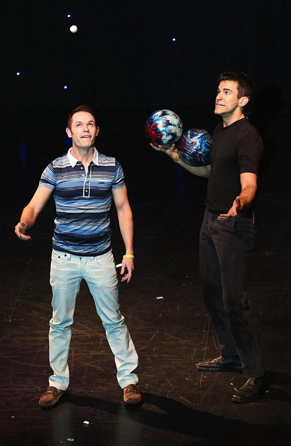 Michael Tierney of Human Nature shows that he too has some juggling skills