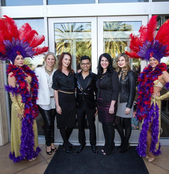 Elizabeth Lesser (principal of Elle Concepts), Shannon Mariani (director of operations of LOOK Style Society), Niko Siton (office manager of LOOK Style Society), Kailee Coll (director of operations of Sam Villa's HairShow) and Magda Korczynski (operations manager of Sam Villa's HairShow)