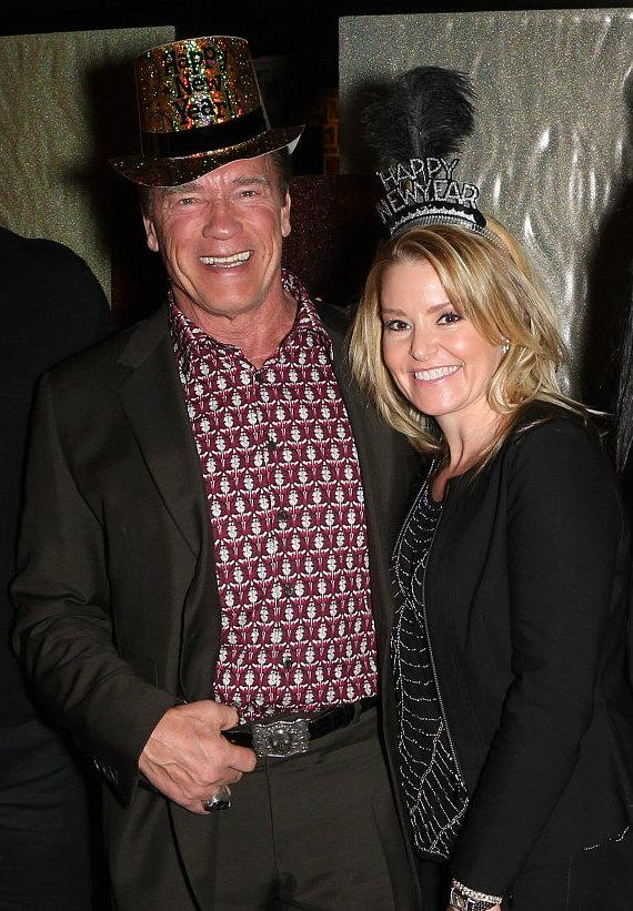 Arnold Schwarzenegger and Heather Milligan celebrate New  >Year's Eve at Planet Hollywood Resort & Casino