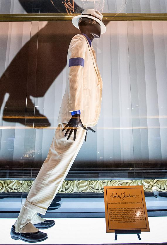 """Close-up of Michael Jackson Costume from """"Smooth Criminal"""" at Michael Jackson One Theater at Mandalay Bay Las Vegas"""