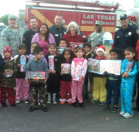 "Firefighters of Southern Nevada Burn Foundation Begin 14th Annual ""Fill The Fire Truck Toy Drive"" by Collecting Toys and Gift Cards at Select Wal-Mart Locations Each Weekend Dec. 3-18"